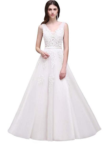 Vintage Rot und Weiß Stickerei Brautkleider Elegante Lange Satin Brautkleider